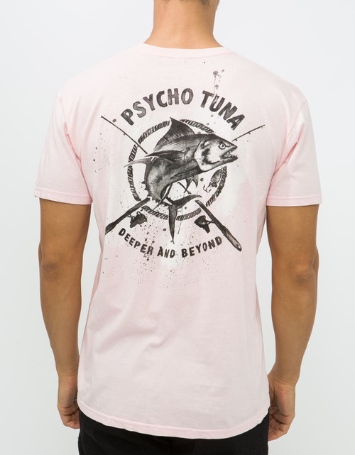 Psycho Tuna Tee Shirt - Deeper and Beyond - Light Pink