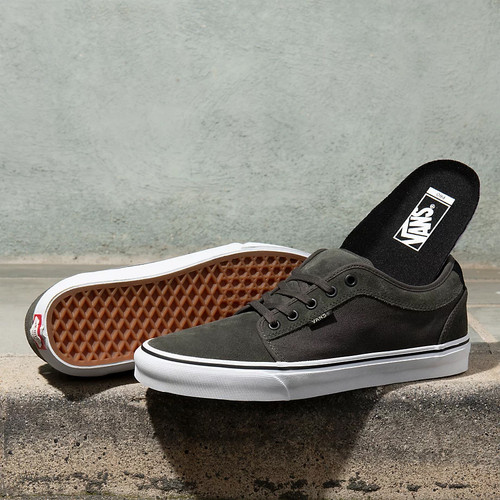 Vans Shoes - Chukka Low - Olive/White