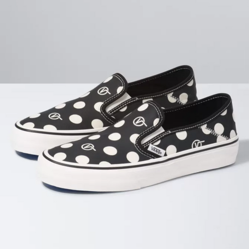 Vans Women's Shoes - Polka Slip-On SF - Black/Marshmallow