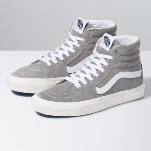 Vans Women's Shoes - Pig Suede Sk8-Hi - Drizzle/Snow White