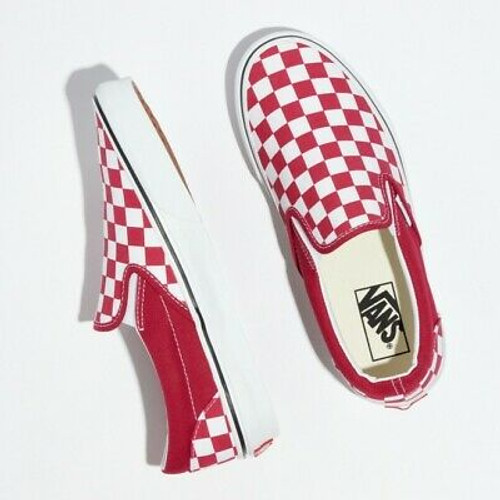 Vans Shoes - Classic Slip-On - Cerise/True White/Checker