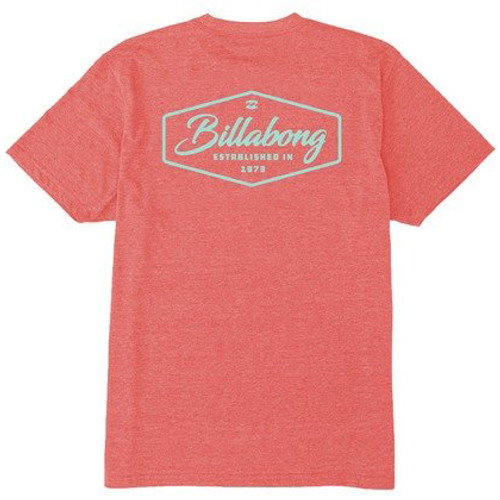 Billabong Tee Shirt - Trademark - Red Heather