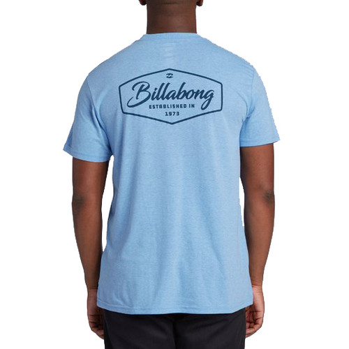 Billabong Tee Shirt - Trademark - Coastal Blue Heather