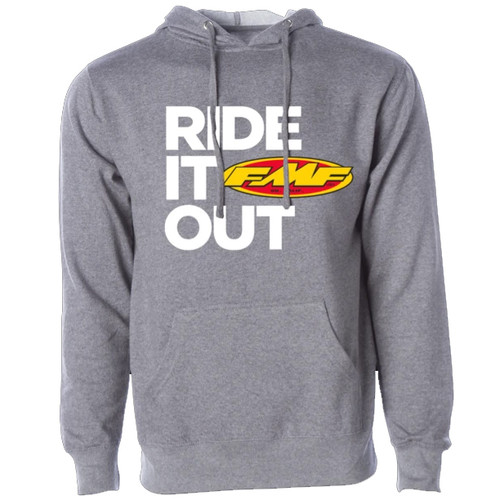 FMF Hoody - Ride It Out - Gunmetal Heather