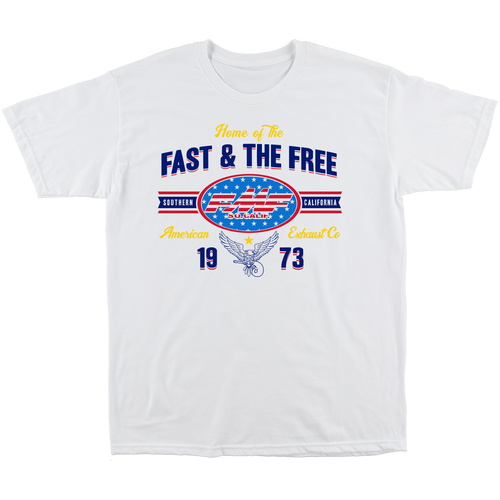 FMF Tee Shirt - Fast and Free - White