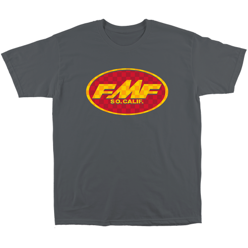 FMF Tee Shirt - Checkered Past - Charcoal