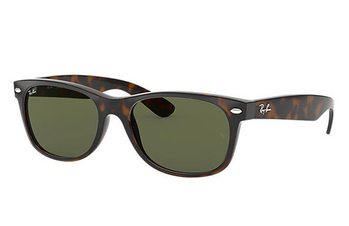 Ray Bans Sunglasses - New Wayfarer Classic - Tortoise/Crystal Green