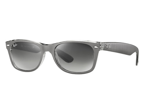 Ray Bans Sunglasses - New Wayfarer Classic - Top Brushed Gunmetal/Grey