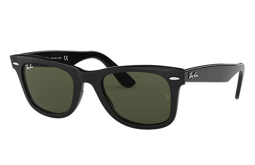 Ray Bans Sunglasses - Original Wayfarer Classic - Black/Crystal Green