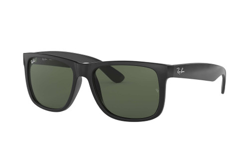 Ray Bans Sunglasses - Justin Classic - Black Rubber/Green Mirror