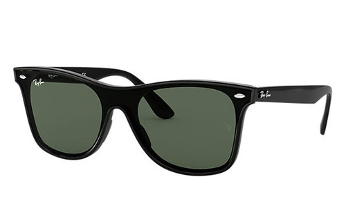Ray Bans Sunglasses - Blaze Wayfarer - Black/Green