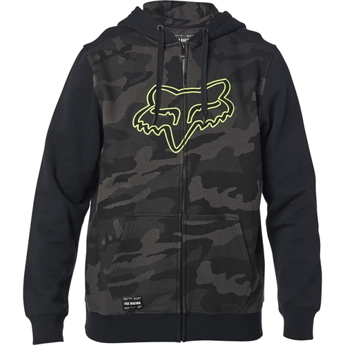 Fox Hoody - Destrakt Zip - Black/Camo