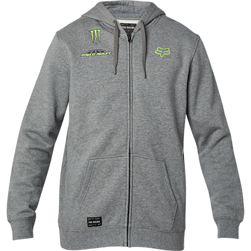 Fox Hoody - Pro Circuit Zip - Heather Graphite