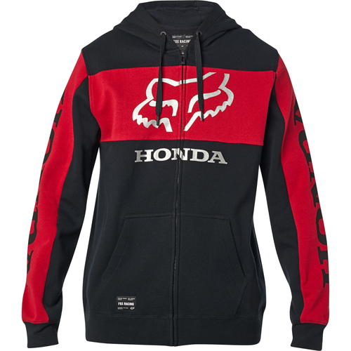Fox Hoody - Honda Zip - Black/Red
