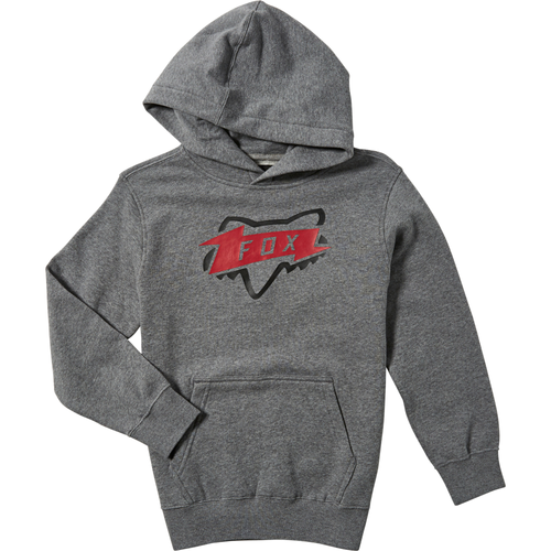 Fox Youth Hoody - Thunderstruck - Heather Graphite