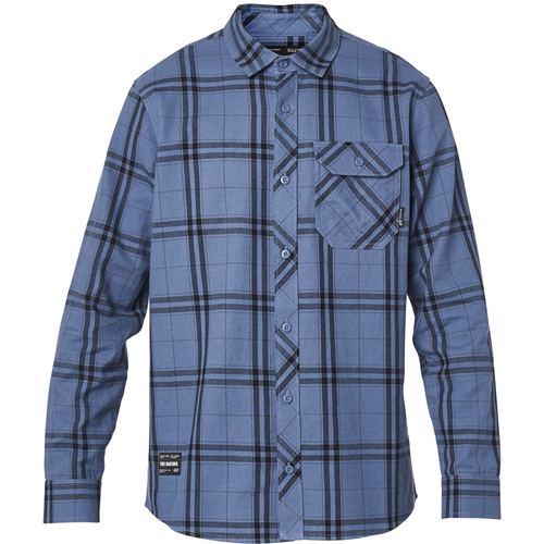 Fox Shirt - Voyd 2.0 Flannel - Blue Steel