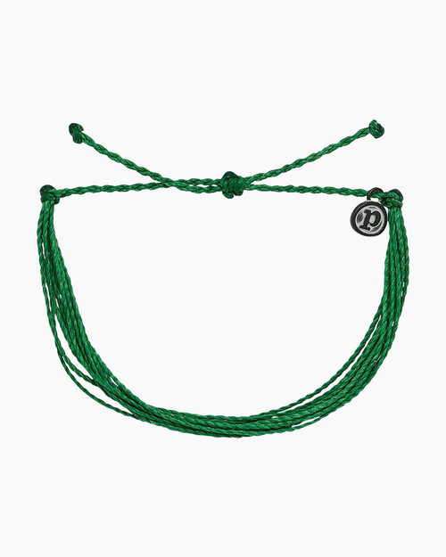 Pura Vida Bracelet - Bright Solid - Dark Green