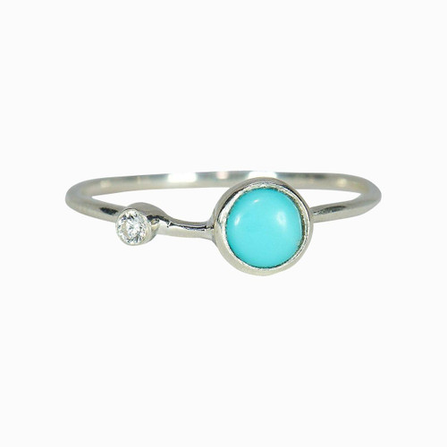 Pura Vida Ring - Turquoise Double Stone - Silver