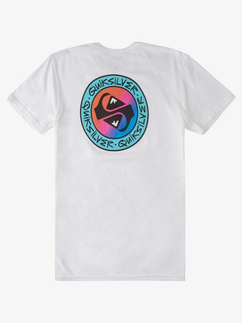 Quiksilver Boys Tee Shirt - In Circles - White