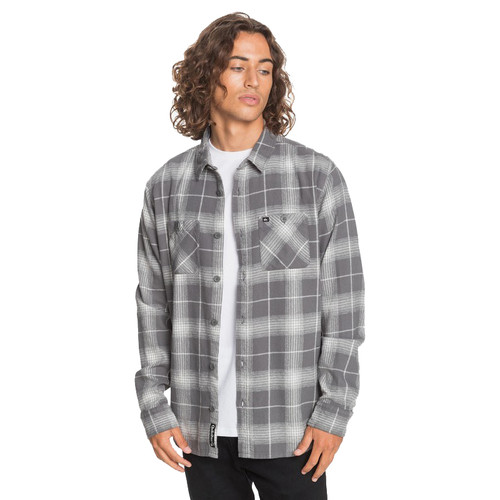 Quiksilver Woven Shirt - Shadow Swells Flannel - Irongate/Shadow Swells