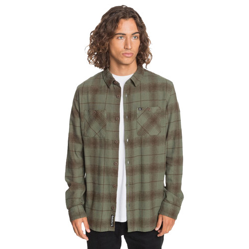 Quiksilver Woven Shirt - Shadow Swells Flannel - Thyme/Shadow Swell