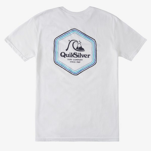 Quiksilver Tee Shirt - Psychedelic Stereo - White