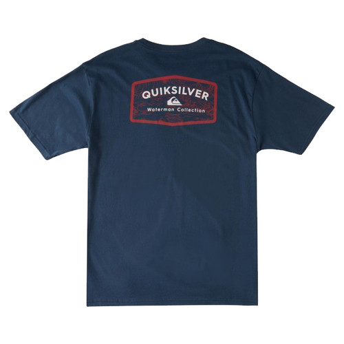 Quiksilver Tee Shirt - Pacific Road - Midnight Navy