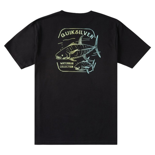 Quiksilver Tee Shirt - King Fisher - Black