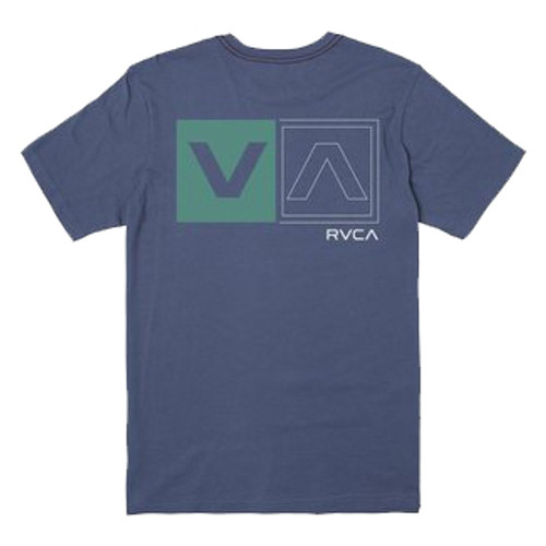 RVCA Tee Shirt - Divided - Classic Blue