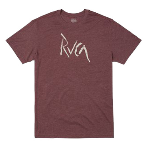 RVCA Tee Shirt - Smashed - Oxblood Red