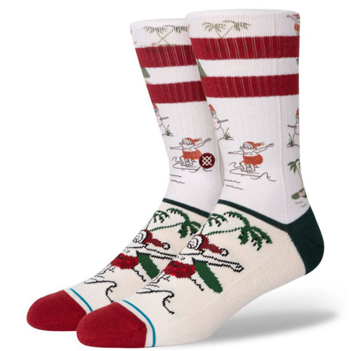 Stance Socks - Santas Day Off - White