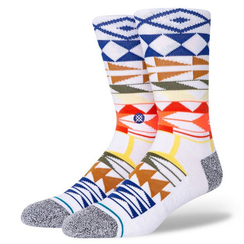 Stance Socks - Warrior Print - White