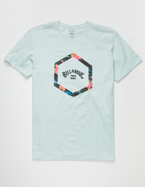 Billabong Boy's Tee Shirt - Access - Aqua Blue