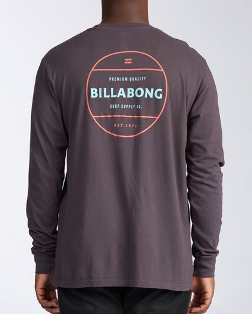 Billabong Tee Shirt - Rotor L/S - Charcoal