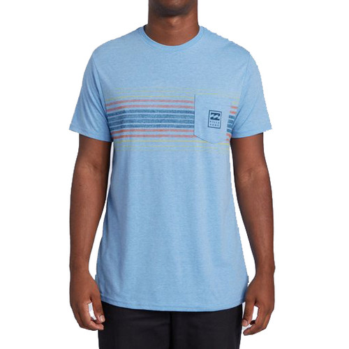 Billabong Tee Shirt - All Day - Coastal Blue