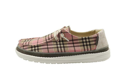 Hey Dude Women's Shoes - Wendy Plaid - Pink