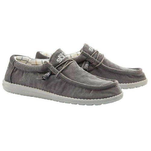 Hey Dude Shoes - Wally Corduroy - Dark Grey