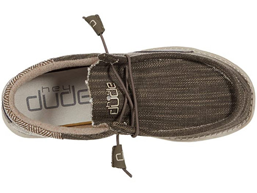 Hey Dude Shoes - Wally Funk - Herringbone/Nut