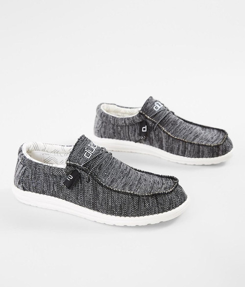 Hey Dude Shoes - Wally Sox - Black/White