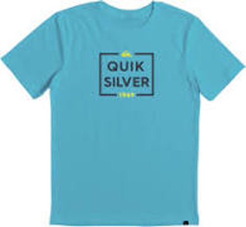 Quiksilver Boys Tee Shirt - Low Maintenance - Pacific Blue