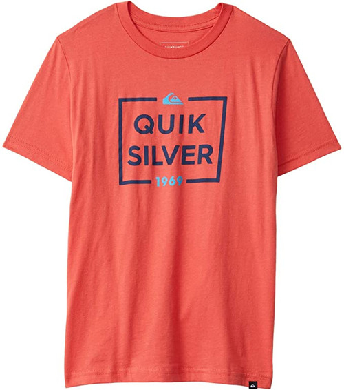 Quiksilver Boys Tee Shirt - Low Maintenance - Hibiscus