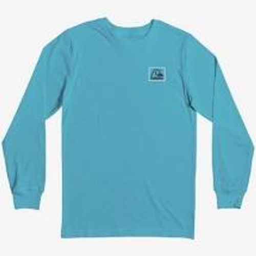 Quiksilver Boys Tee Shirt - Leaping Ideas L/S - Pacific Blue