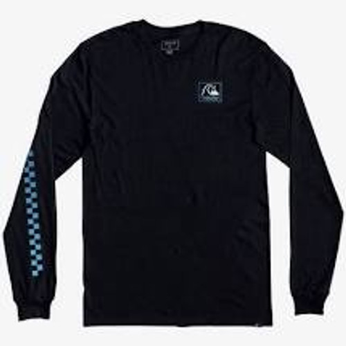 Quiksilver Boys Tee Shirt - Leaping Ideas L/S - Black
