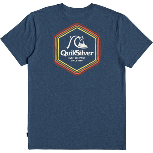 Quiksilver Tee Shirt - Psychedelic Stereo - Navy Blazer Heather
