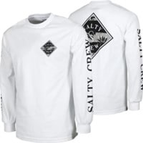 Salty Crew Tee Shirt - Tippet Decoy L/S Tech - White