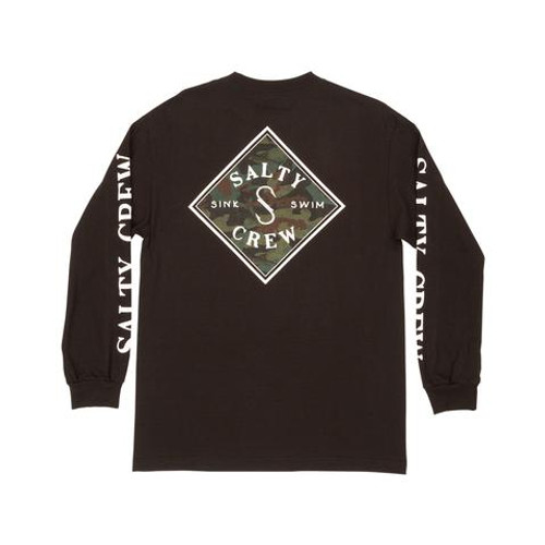 Salty Crew Tee Shirt - Tippet Decoy L/S Tech - Navy