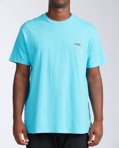 Billabong Tee Shirt - Access - Aqua Blue