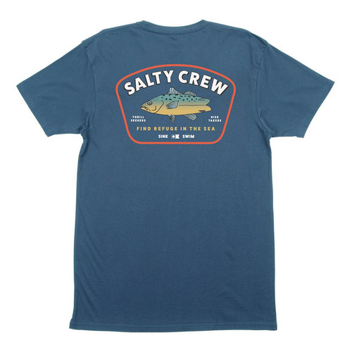 Salty Crew Tee Shirt - Creature - Harbor Blue