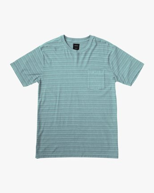 RVCA Tee Shirt - PTC Texture Stripe - Ice Blue