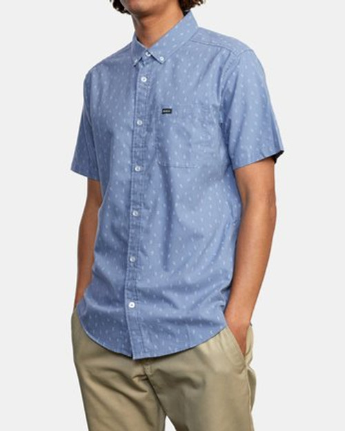 RVCA Woven Shirt - That'll Do Print - Slate